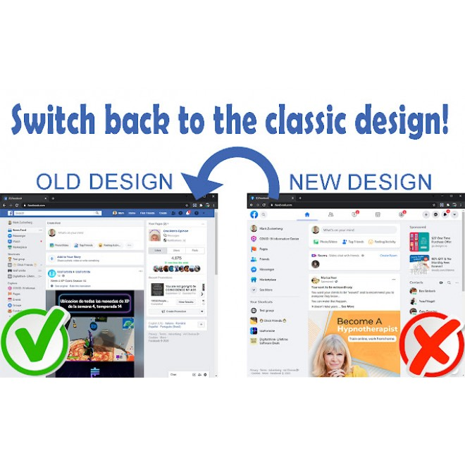 Switch FB to NEW or OLD Design
