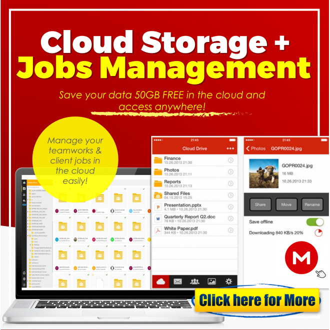 JomBiz! Cloud Storage + Jobs Management