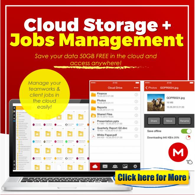 JomBiz! Cloud Storage + Jobs Management