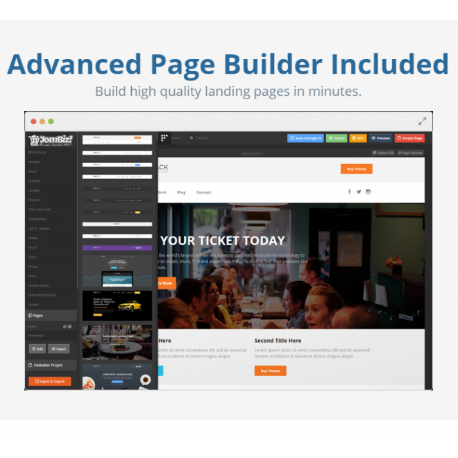 PIXWEB : Website Builder