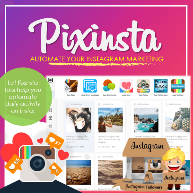 Pixinsta - Instagram AutoPost
