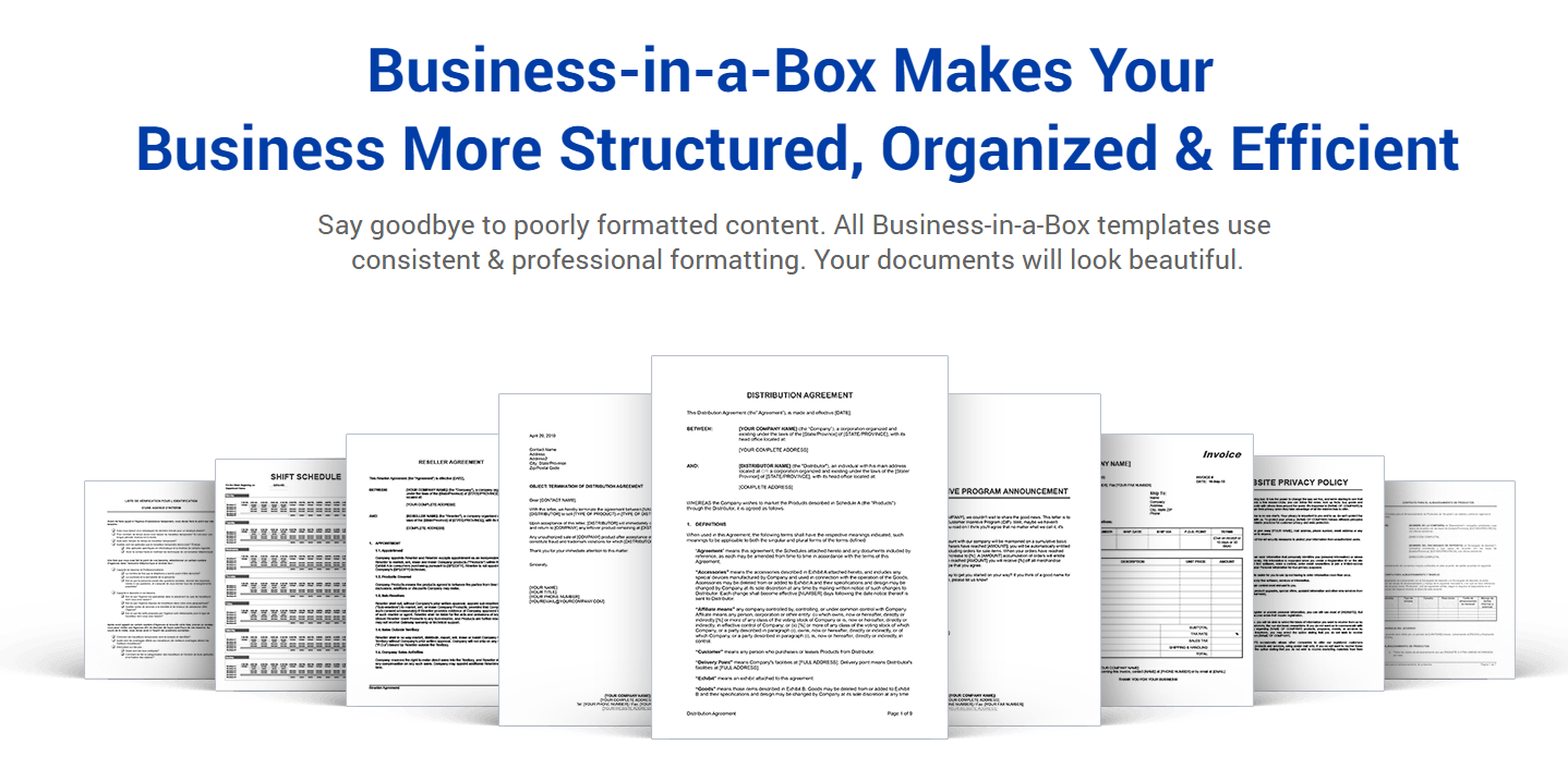 Jombiz business documentation template business in a box business documentation template is the ultimate document writing tool including over 1200 templates of essential contracts accmission Images
